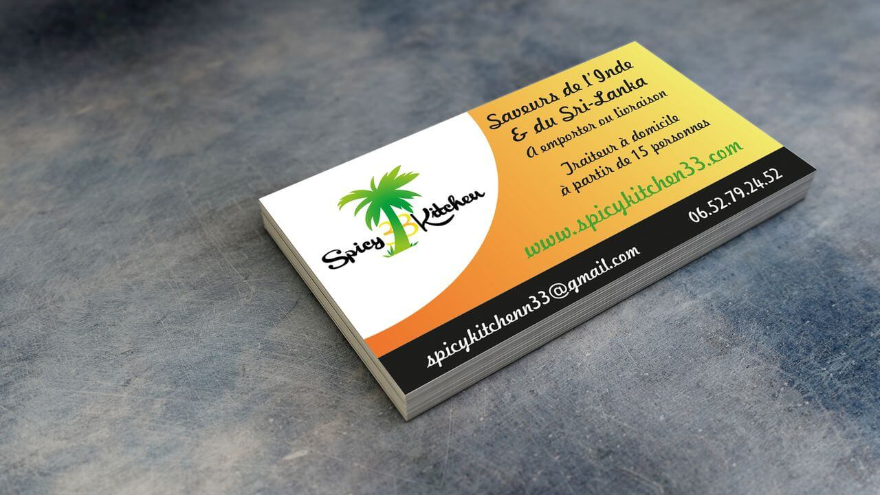 carte de visite Spicy Kitchen 33